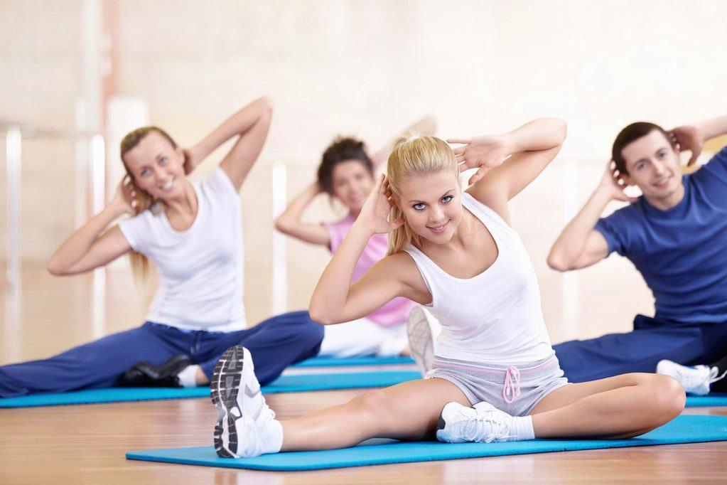 aerobics on the floor
